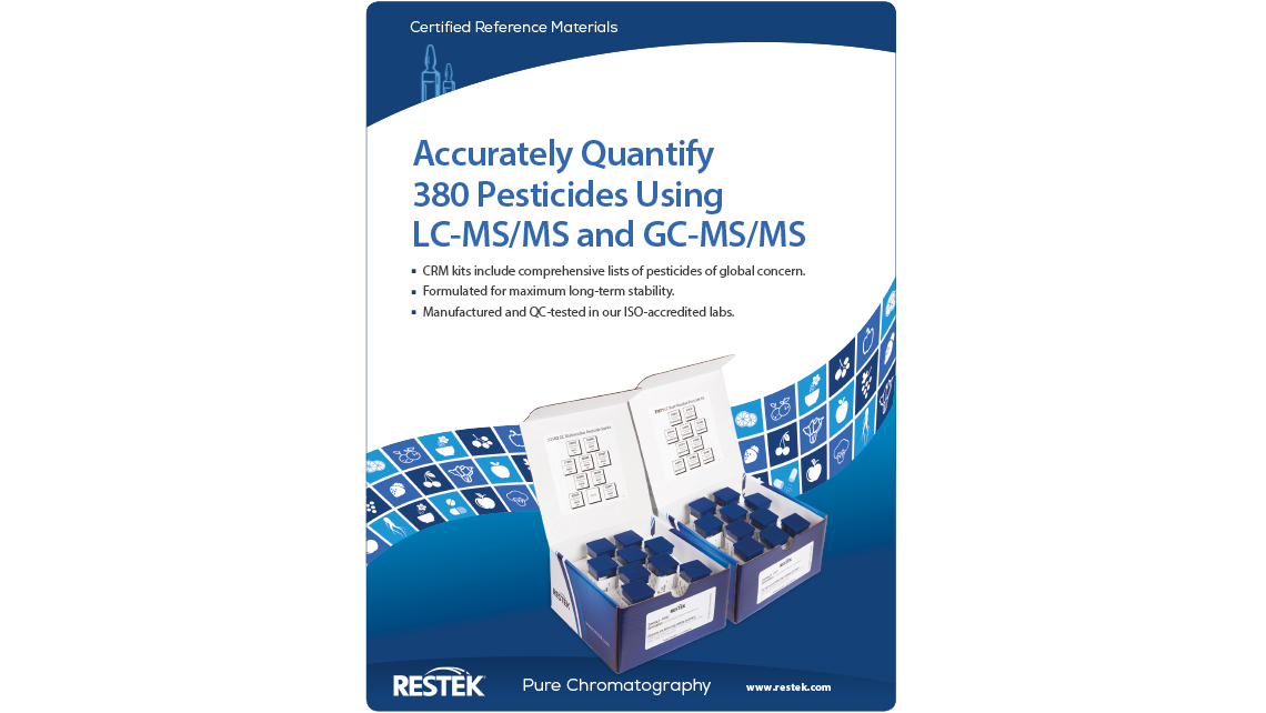 Accurately Quantify  380 Pesticides Using  LC-MS/MS and GC-MS/MS